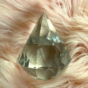 Large Diamond Crystal Paperweight GLAM Decor 🌈